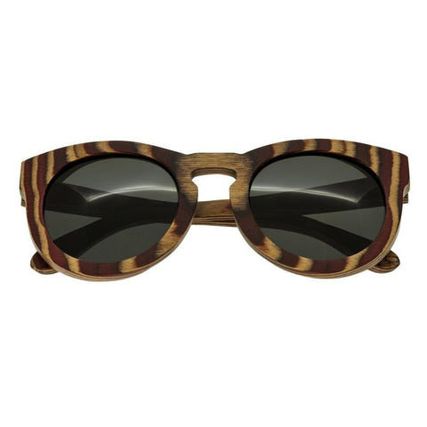 Spectrum Dorian Wood Polarized Sunglasses - Cherry Zebra/Black SSGS128BK