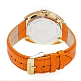 Bertha Amelia Leather-Band Watch w/Date - Orange BTHBR6306