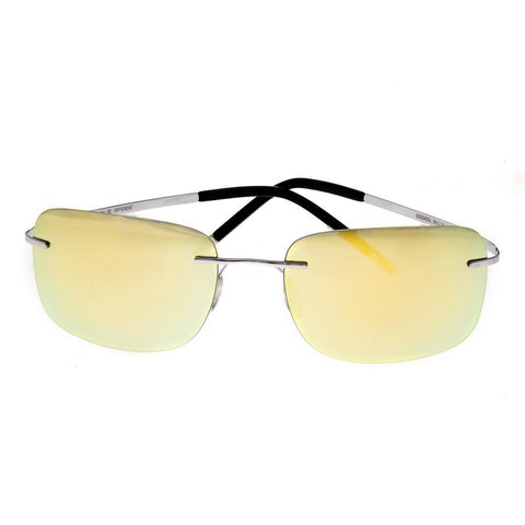 Breed Orbit Titanium Polarized Sunglasses - Silver/Yellow BSG042SL