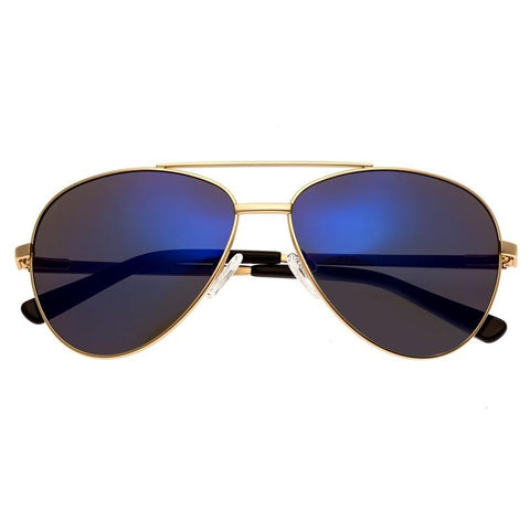 Bertha Bianca Polarized Sunglasses - Gold/Purple-Blue BRSBR020RG