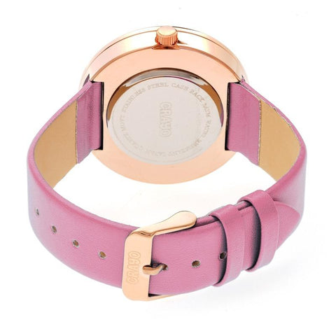 Crayo Swirl Strap Watch - Rose Gold/Lavender CRACR4205