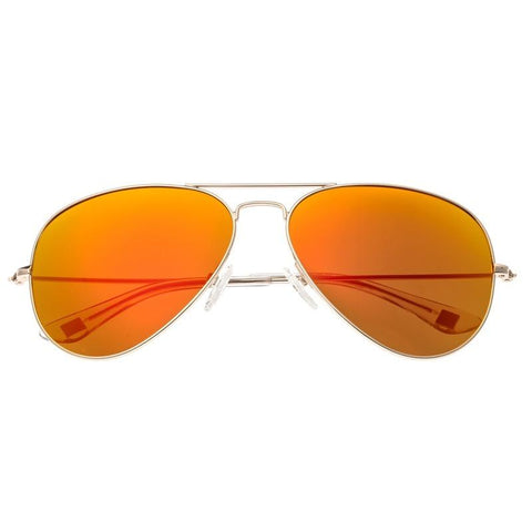 Sixty One Honupu Polarized Sunglasses - Silver/Red-Orange SIXS141RD