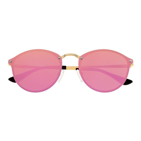 Sixty One Picchu Polarized Sunglasses - Gold/Pink SIXS143PK