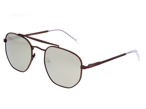 Sixty One Stockton Polarized Sunglasses - Brown/Silver SIXS103BN