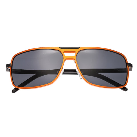 Breed Retrograde Aluminium Polarized Sunglasses - Orange/Black BSG017OG