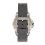 Breed Revolution Leather-Band Watch w/Date - Grey BRD8303