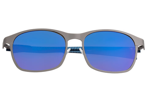 Breed Halley Titanium Polarized Sunglasses - Gunmetal/Blue BSG034GM