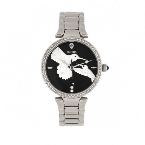 Bertha Nora Bracelet Watch - Black/ Silver BTHBR8501