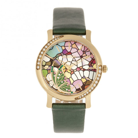 Bertha Vanessa Leather Band Watch - Green BTHBR8704