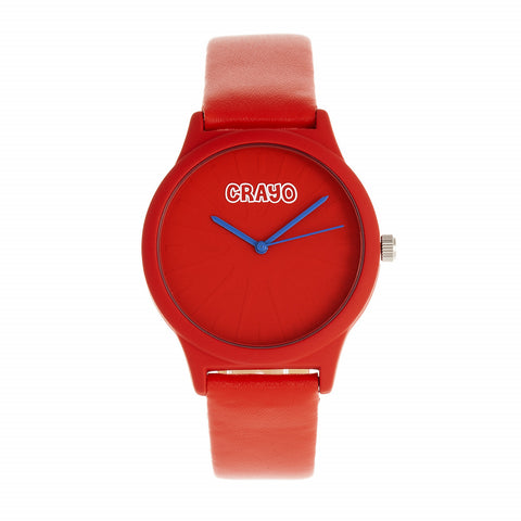Crayo Splat Leatherette Strap Watch - Red CRACR5303