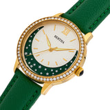 Bertha Dolly Leather-Band Watch - Green  BTHBS1004