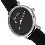 Sophie & Freda Breckenridge Leather-Band Watch - Silver/Black SAFSF4704