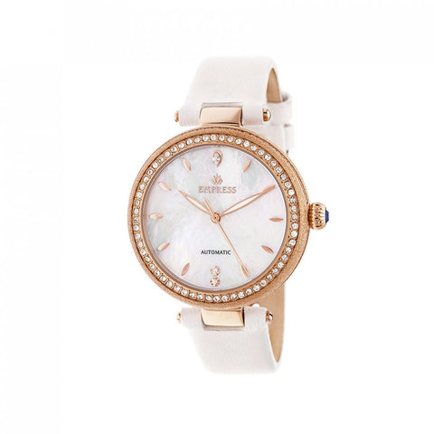 Empress Louise Mother-Of-Pearl Leather-Band Watch - Rose Gold/Silver EMPEM2303