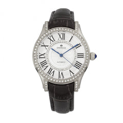 Empress Xenia Automatic Leather-Band Watch - Black