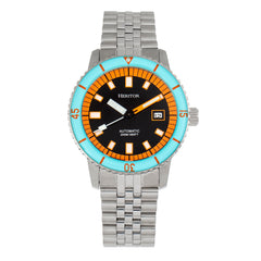 Heritor Automatic Edgard Bracelet Diver's Watch w/Date - Light Blue/Black