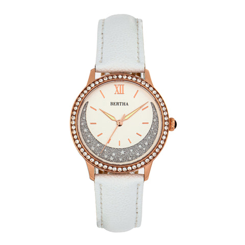Bertha Dolly Leather-Band Watch - White  BTHBS1005