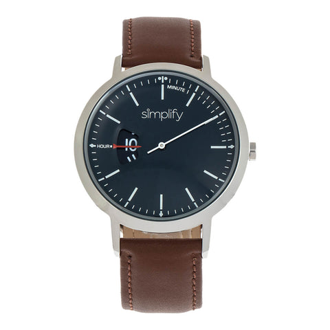 Simplify The 6500 Leather-Band Watch - Brown/Black SIM6504