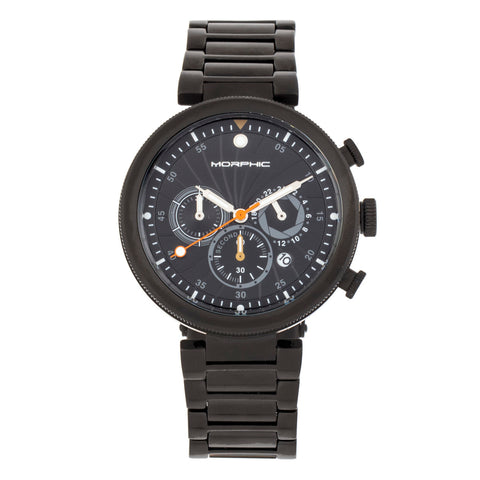 Morphic M87 Series Chronograph Bracelet Watch w/Date - Black MPH8706