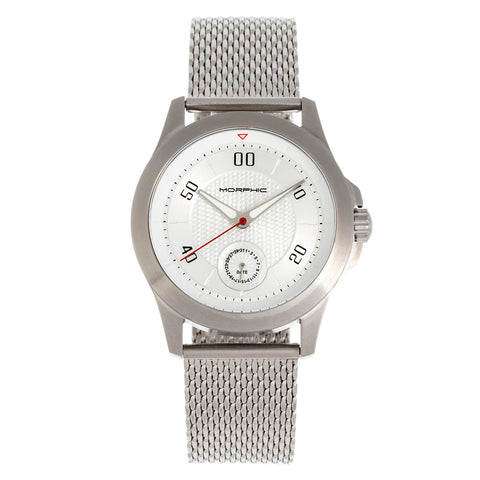 Morphic The M80 Series Bracelet Watch w/Date - Silver/White MPH8001