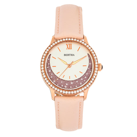 Bertha Dolly Leather-Band Watch - Light Pink BTHBS1006