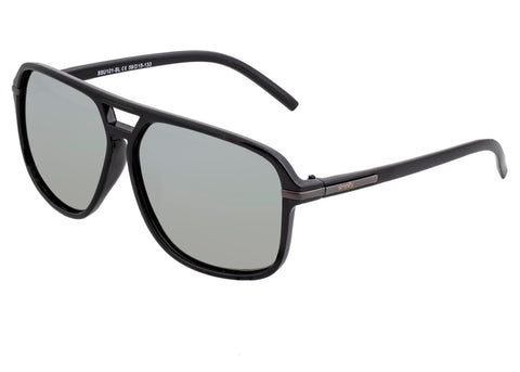 Simplify Reed Polarized Sunglasses - Black/Silver SSU121-SL