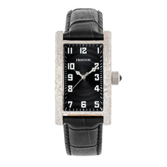 Heritor Automatic Jefferson Leather-Band Watch - Silver/Black