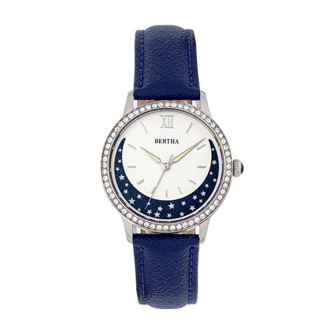 Bertha Dolly Leather-Band Watch - Blue  BTHBS1002
