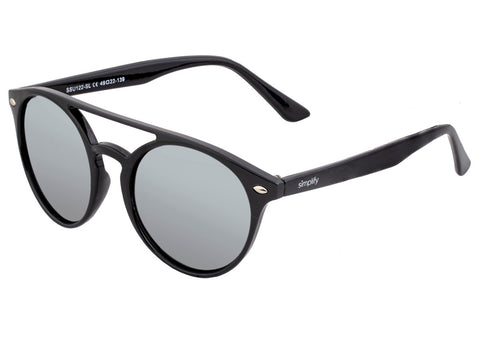 Simplify Finley Polarized Sunglasses - Black/Silver  SSU122-SL
