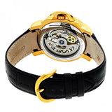 Heritor Automatic McKinley Leather-Band Skeleton Watch - Gold/Silver HERHR4003