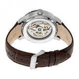 Heritor Automatic Ryder Skeleton Leather-Band Watch - Brown/White HERHR4603