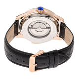 Heritor Automatic Prescott Leather-Band Watch w/ Day/Date - Rose Gold/Black HERHR6705