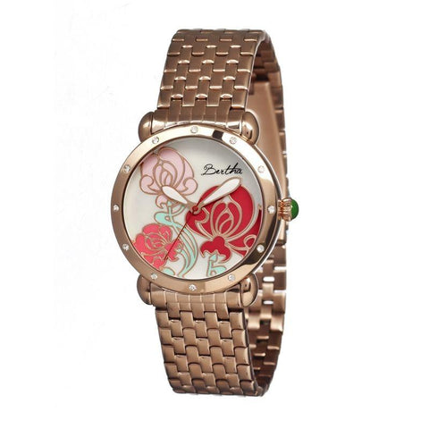 Bertha Josephine MOP Ladies Bracelet Watch - Rose Gold BTHBR1503