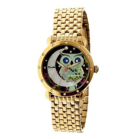 Bertha Ashley MOP Ladies Bracelet Watch - Gold BTHBR3009