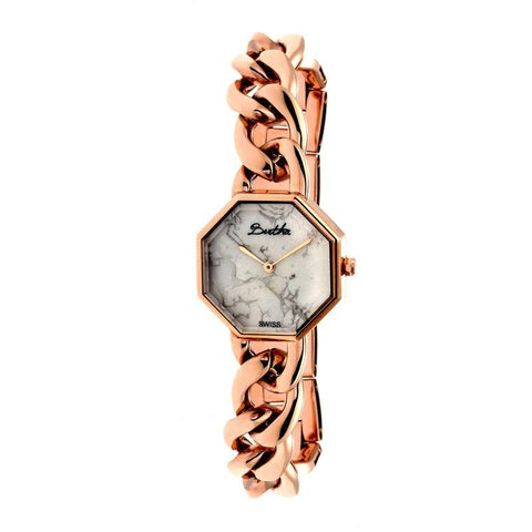 Bertha Ethel Ladies Swiss Bracelet Watch - Rose Gold BTHBR5803