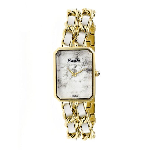Bertha Eleanor Ladies Swiss Bracelet Watch - Gold/White BTHBR5903