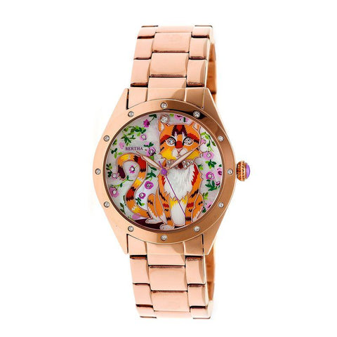 Bertha Selina Mother-of-Pearl Bracelet Watch - Rose Gold BTHBR6103