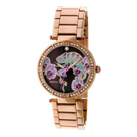 Bertha Camilla Mother-Of-Pearl Bracelet Watch - Rose Gold BTHBR6203
