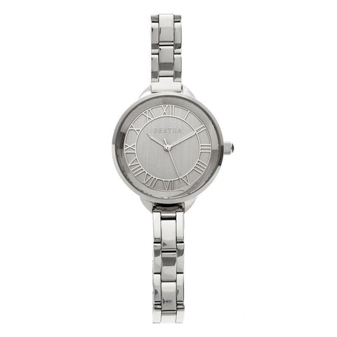 Bertha Madison Sunray Dial Bracelet Watch - Silver BTHBR6701