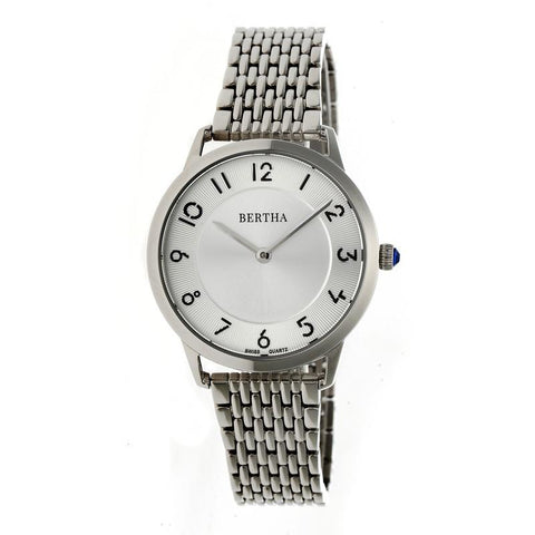 Bertha Abby Swiss Bracelet Watch - Silver BTHBR6801