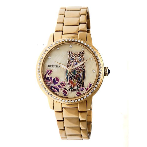 Bertha Madeline MOP Bracelet Watch - Gold BTHBR7102