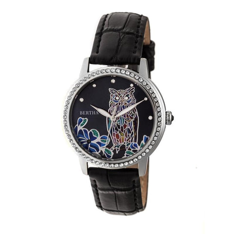 Bertha Madeline MOP Leather-Band Watch - Black BTHBR7104