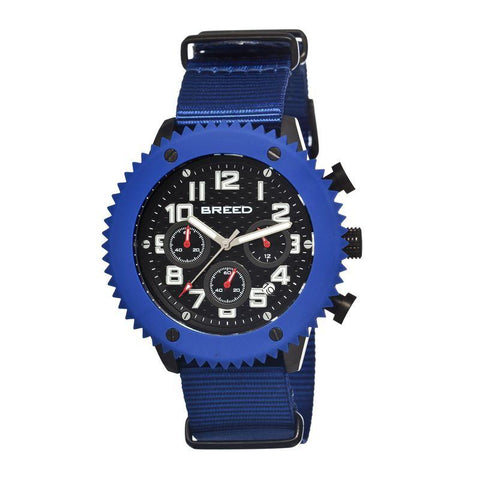 Breed Decker Nylon-Band Chronograph Men's Watch-Blue BRD1502