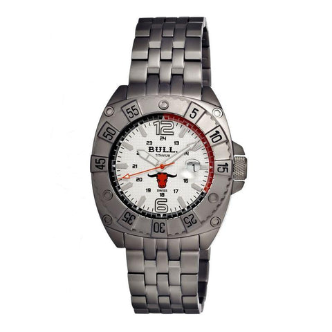 Bull Titanium Robust Men's Swiss Bracelet Watch - White BULRO001