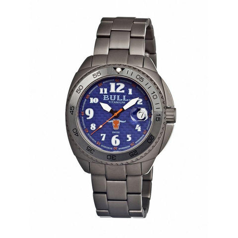 Bull Titanium Matador Men's Swiss Bracelet Watch - Blue BULMD004