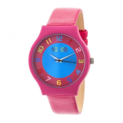 Crayo Jubilee Strap Watch - Hot Pink CRACR4607