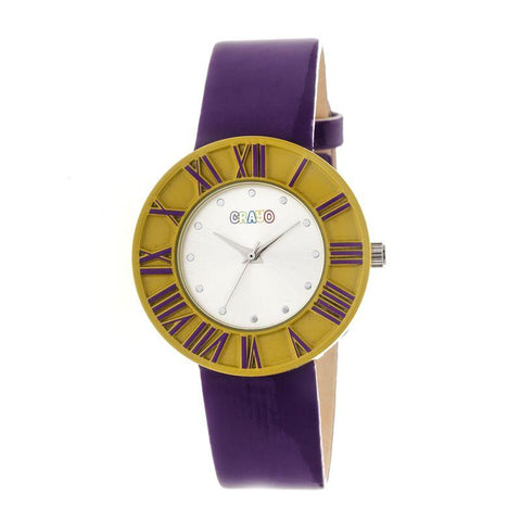 Crayo Prestige Unisex Watch - Yellow/Purple CRACR3104