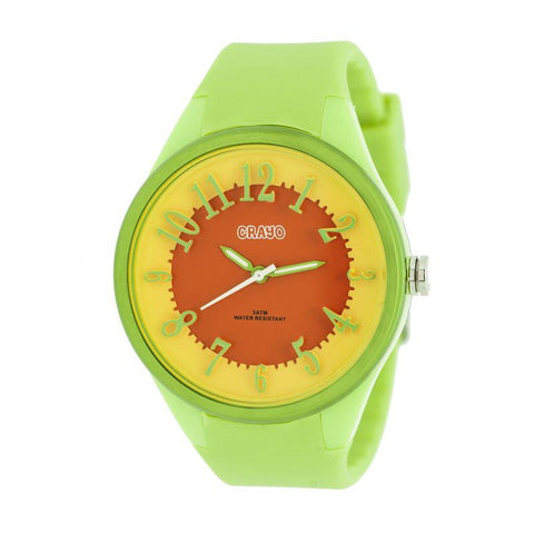 Crayo Burst Ladies Watch - Lime/Orange CRACR3202