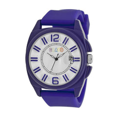 Crayo Sunset Unisex Watch w/Magnified Date - Purple