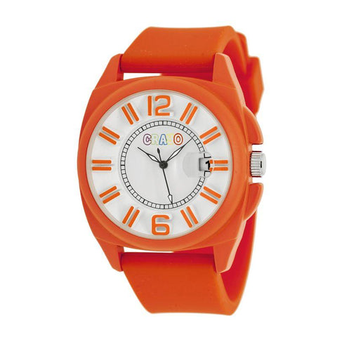 Crayo Sunset Unisex Watch w/Magnified Date - Orange CRACR3307