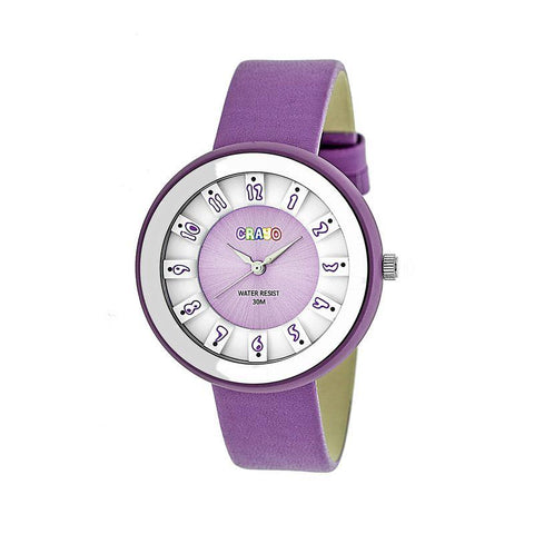 Crayo Celebration Leather-Band Watch - Lavender CRACR3407
